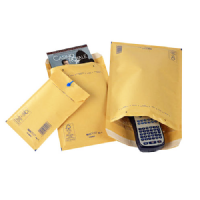 Arofol Gold Padded Bubble Envelopes 100mm x 165mm Size 1